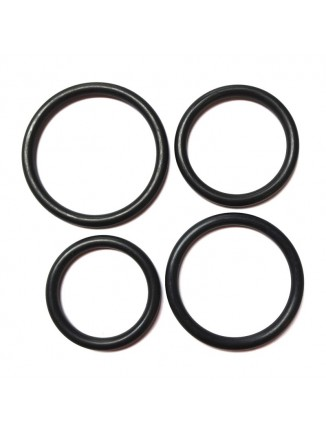 Rubber Cock ring set (pack of 4)