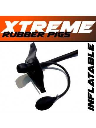 Inflatable rubber gag