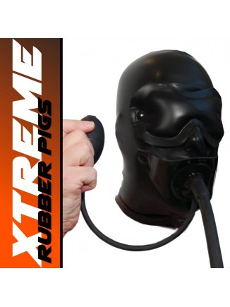 Extreme Hood with blindfold and inflatable gag
