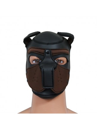 Pup hood / dog mask - Brown