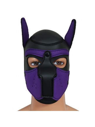 Pup hood / dog mask -Purple