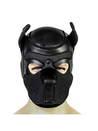 Pup hood / dog mask - Black