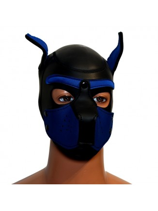 Pup hood / dog mask - Blue