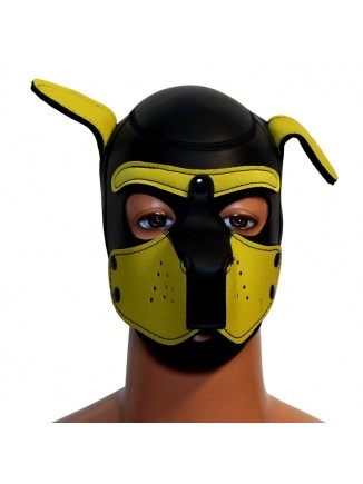 Pup hood / dog mask - Yellow