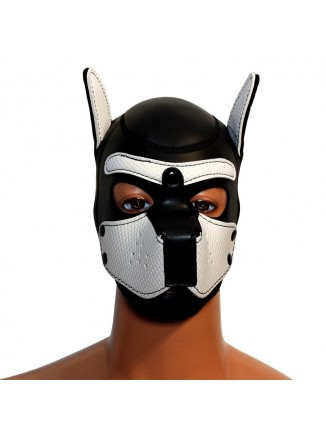 Pup hood / dog mask - White