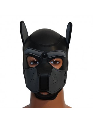 Pup hood / dog mask - Grey