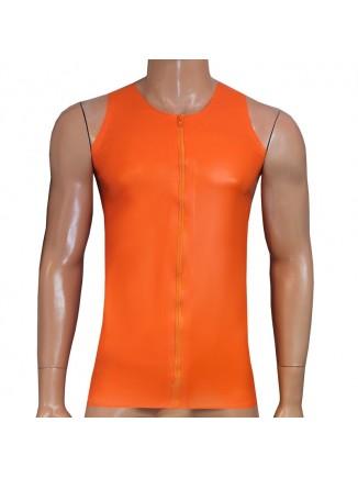 Zip fronted muscle top