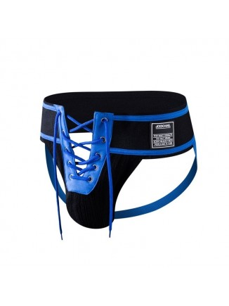 JM Black/Blue Lace-Up Jock