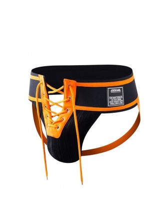 JM Black/Orange Lace-Up Jock