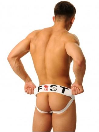 Fist logo Jock - white