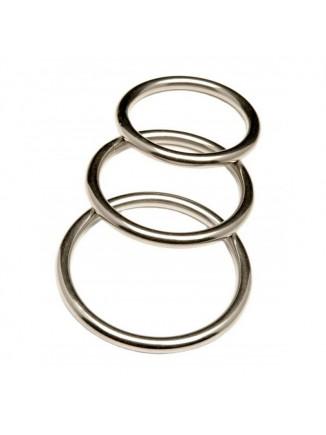 Metal cock ring set